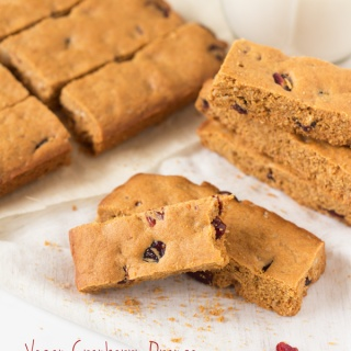 Vegan Cranberry Orange Oatmeal Cookie Sticks
