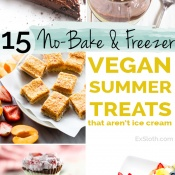 15 Vegan No Bake and Frozen Desserts that aren't Ice Cream via @ExSloth | ExSloth.com