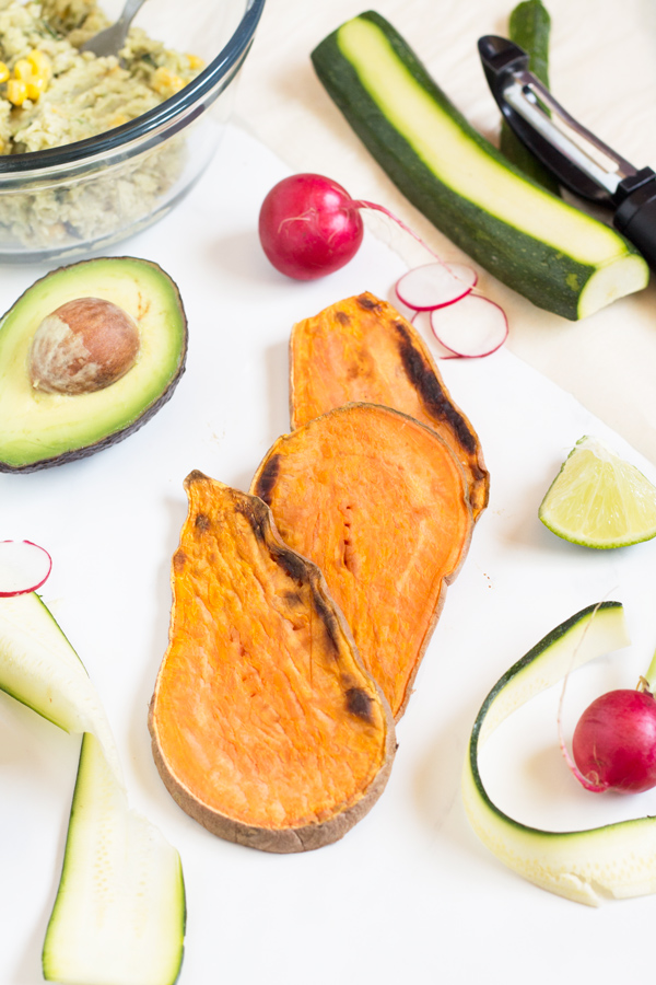 Easy Lima Bean Sweet Potato Toast (Gluten Free & Vegan) via @ExSloth | ExSloth.com