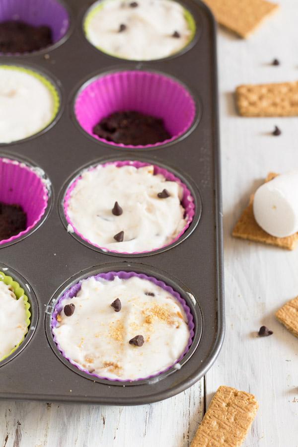 vegan s'mores ice cream cupcakes via @ExSloth | ExSloth.com