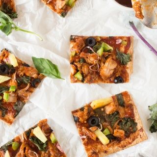 Thin Crust BBQ Jackfruit Pizza