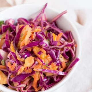 Red Cabbage Mango Pineapple Slaw
