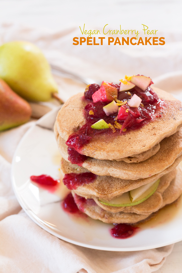 ... spelt pancakes only call for 10 ingredients and are full of fall