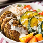 Easy Pumpkin Falafel Buddha Bowl
