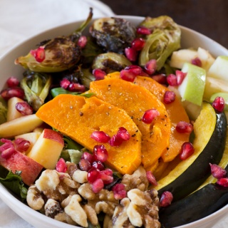 Fall Harvest Salad with Pomegranate Vinaigrette