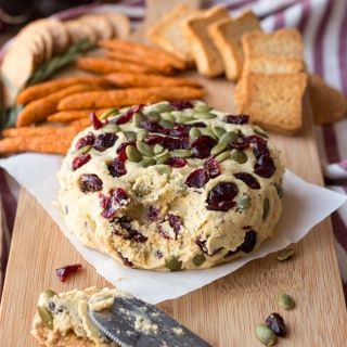 Vegan Lentil Cashew Cheese Ball