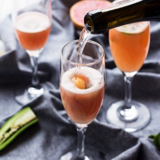 5 Ingredient Spicy Grapefruit Mimosas