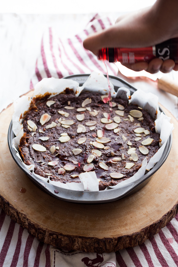 This vegan Trinidad black cake is moist, dense and filled with fruits and alcohol. The perfect vegan alternative to a traditional Christmas favourite via ExSloth.com
