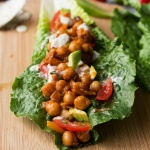 BBQ Chickpea Lettuce Wraps with Vegan Ranch Dressing