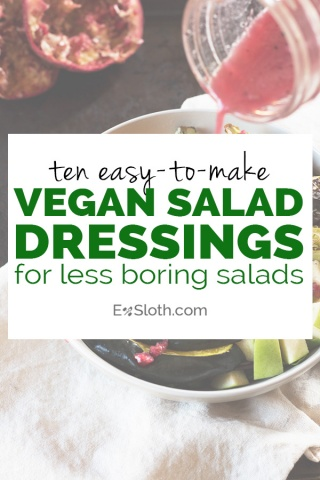 10 easy-to-make vegan salad dressing for more exciting vegan lunches and dinners | ExSloth.com