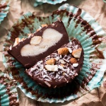 Dark Chocolate Vegan Almond Joy Cups