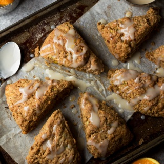 Zucchini Orange Coconut Yogurt Scones