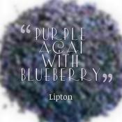 Purple Acai with Blueberry tea
