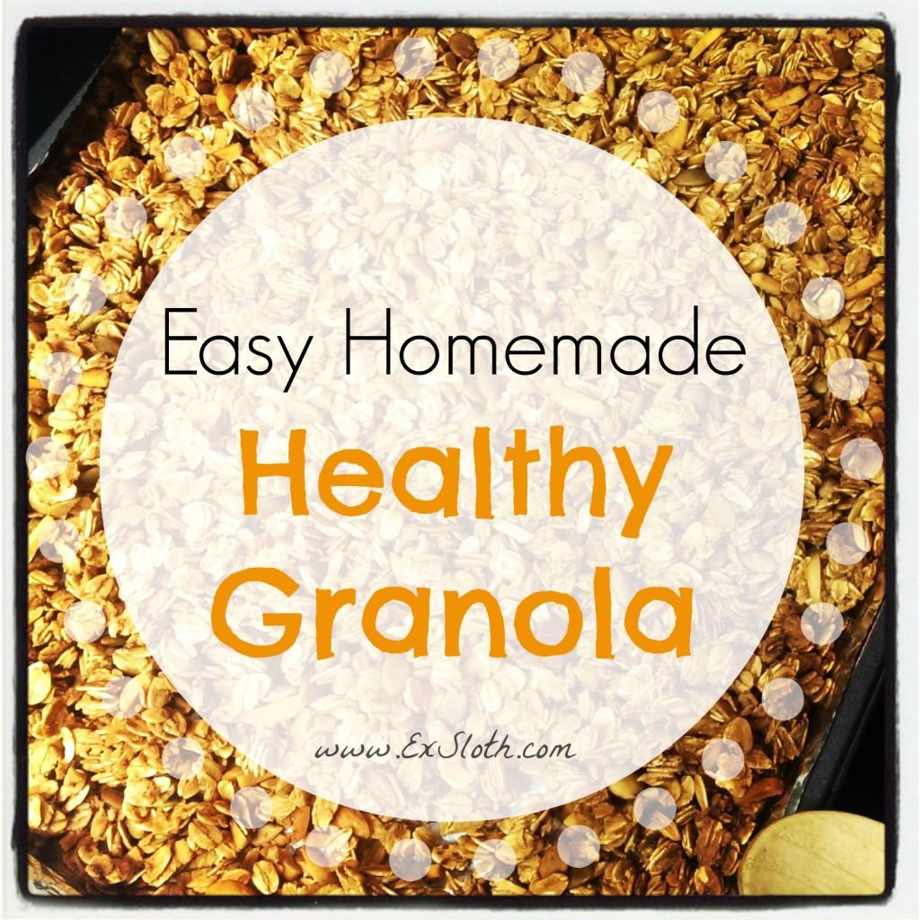 Easy Homemade Healthy Granola Recipe | ExSloth.com