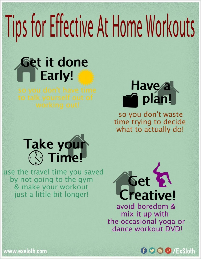 exercise at home effectively