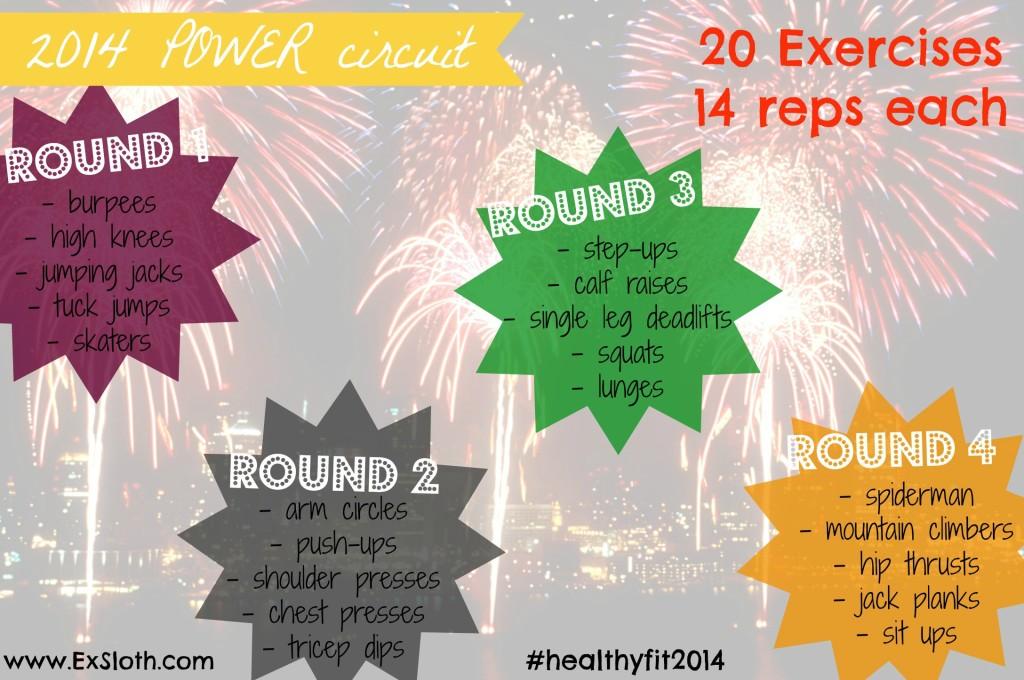 No equipment (body weight) 2014 POWER circuit workout via @ExSloth | ExSloth.com