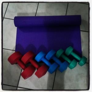 at home workout setup