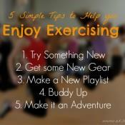 5 Simple Tip yo help you Enjoy Exercising | ExSloth.com