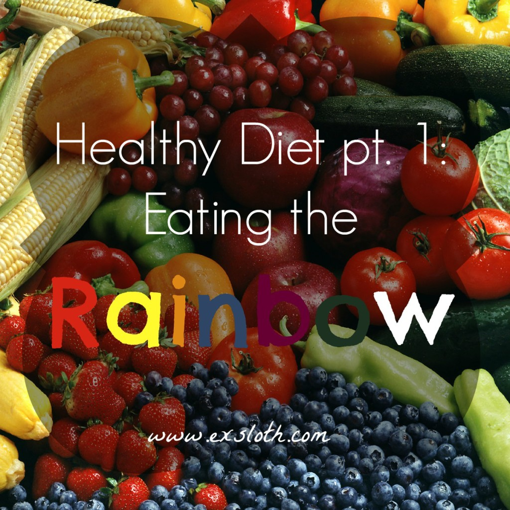 healthy diet pt 1 - eating a rainbow of fruits and vegetables | ExSloth.com
