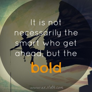 Learning to be Bold & Weekly Goals