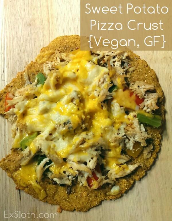 Sweet Potato Pizza Crust Recipe {Vegan, Gluten Free}   ExSloth.com
