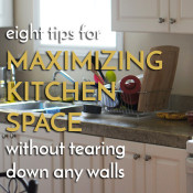 Get the most out of your kitchen with these 8 tips for maximizing kitchen space via @ExSloth   ExSloth.com