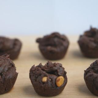 Flourless, Vegan Two Bite Brownies