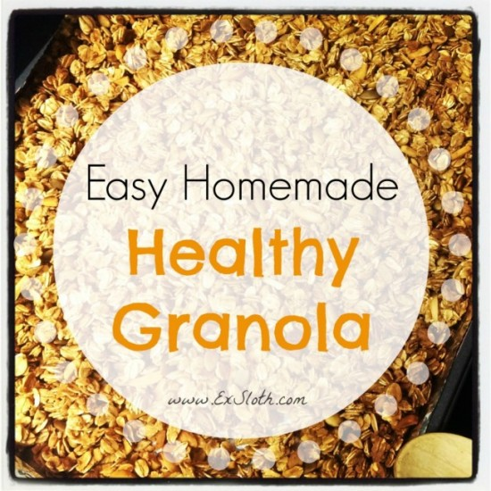 easy homemade healthy granola #recipe   @ExSloth