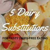 5 Dairy Substitutions for tasty dairy-free eating | @ExSloth