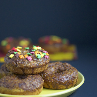 Vegan Pumpkin Spice Baked Donuts
