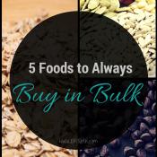 5 Foods to Always buy in Bulk via @ExSloth | ExSloth.com