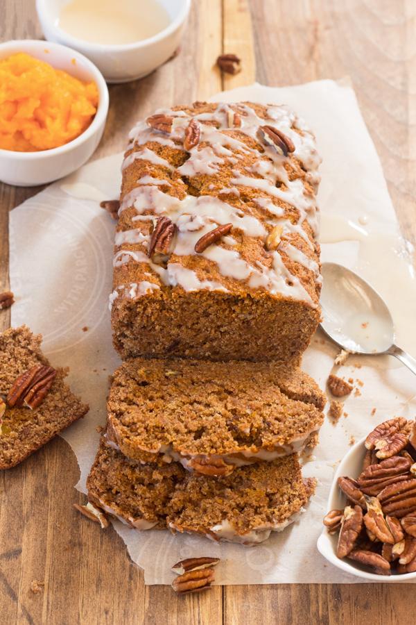 Vegan Maple Coconut Butternut Squash Bread (refined sugar free and made with spelt flour) via @ExSloth | ExSloth.com