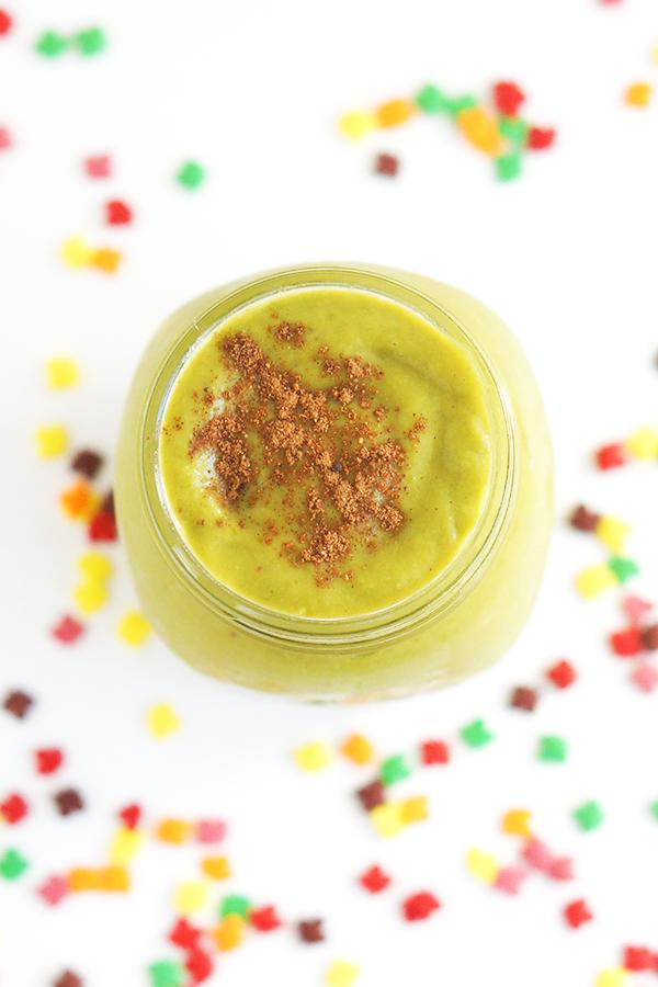 Pumpkin Pie Green Smoothie via @ExSloth   ExSloth.com