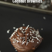 Double Chocolate Chip Coconut Brownies via @ExSloth | ExSloth.com
