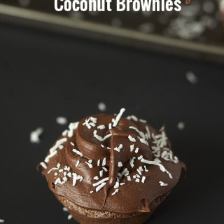 Double Chocolate Chip Coconut Brownies