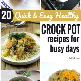 20 Healthy Crock Pot Recipes for Quick & Easy Meals