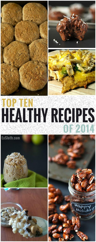 Top 10 Healthy Recipes of 2014 via @ExSloth | ExSloth.com #dairyfree