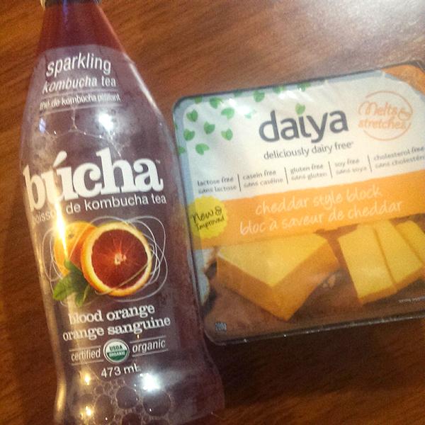 kombucha and daiya cheese via @ExSloth