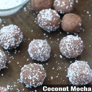 Coconut Mocha Cookie Dough Balls