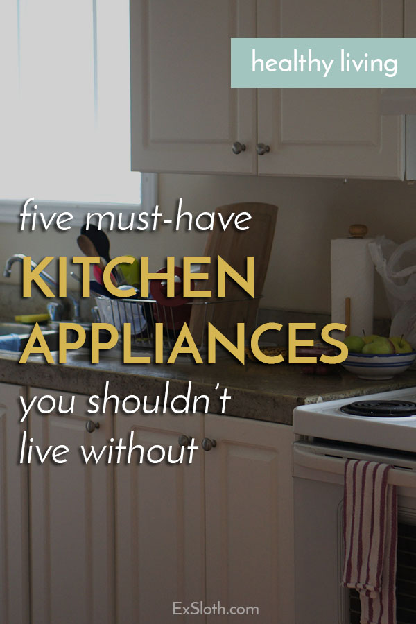 If you're looking to save space, your kitchen appliances should have multiple purposes and take up as little space as possible. Here are 5 that you need via @ExSloth | ExSloth.com