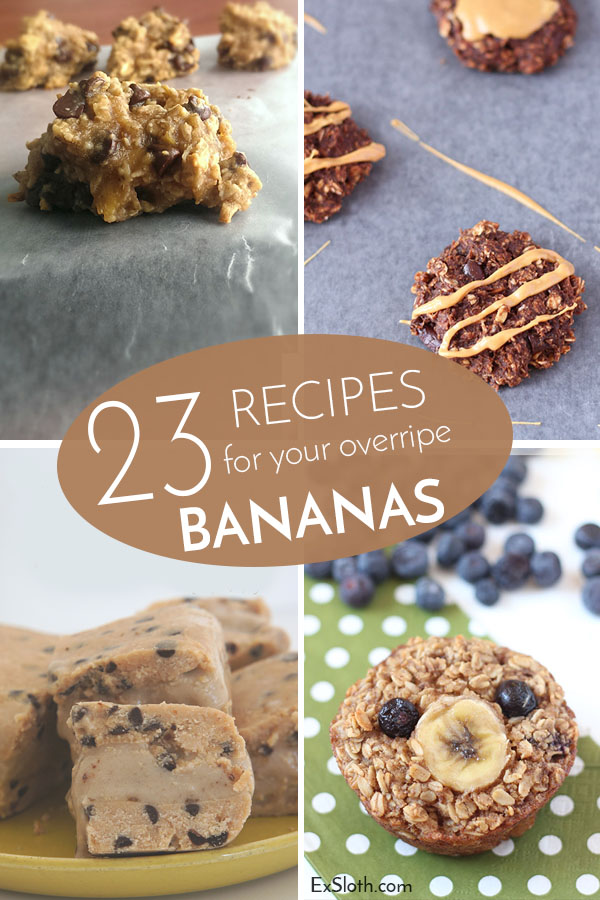 23 Recipes for your overripe Bananas via @ExSloth | ExSloth.com