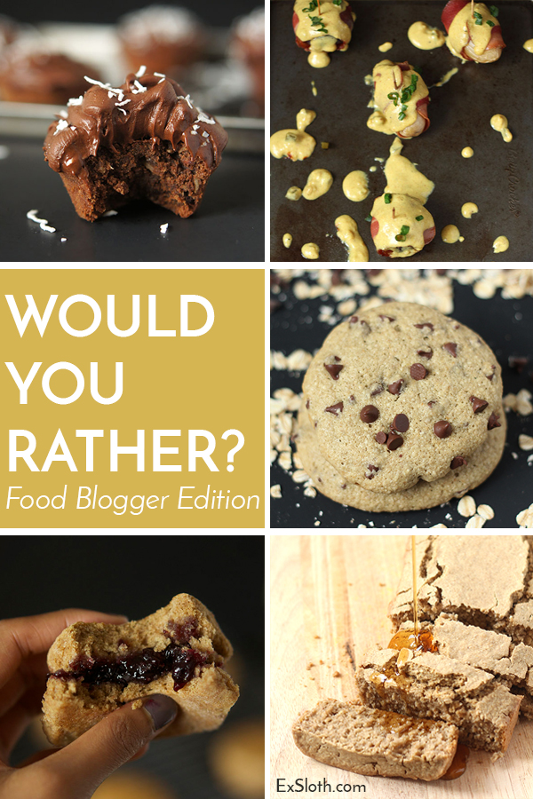 Choose your favourite foods in this Food Fight edition of Would you Rather? via @ExSloth   ExSloth.com