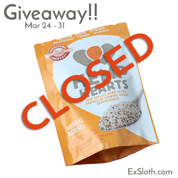 hemp hearts giveaway closed