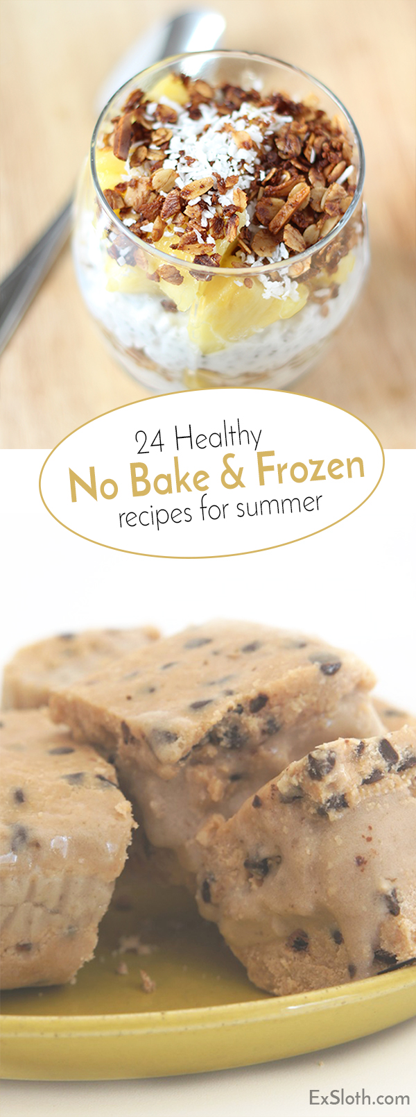 24 healthy no bake and frozen recipes to keep you cool this summer via @ExSloth | ExSloth.com