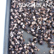 Vegan, gluten free, Mexican spiced roasted black beans via @ExSloth | ExSloth.com