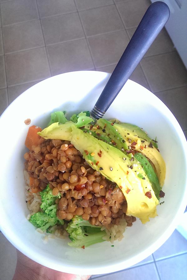 Vegan Rice and Lentil buddha bowl via @ExSloth   ExSloth.com