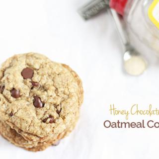 Honey Chocolate Chip Oatmeal Cookies + Nektar Naturals Giveaway