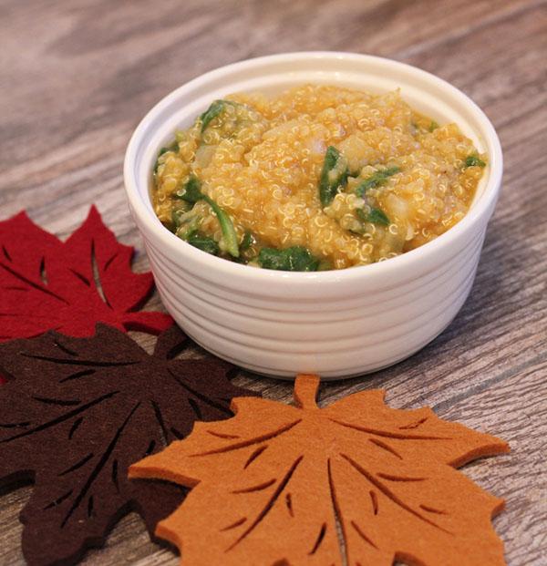 pumpkin and spinach quinoa via @runeatsnap @ExSloth | ExSloth.com