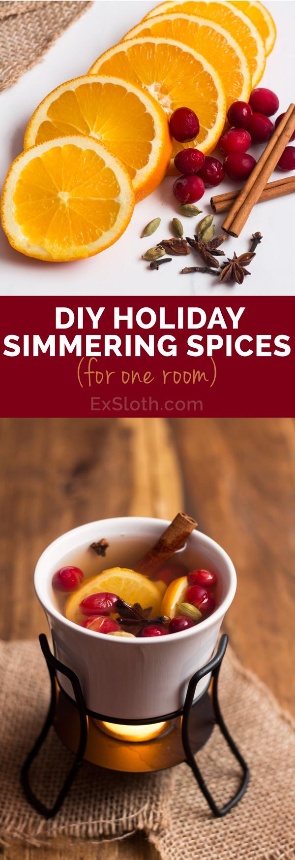 Holiday Simmering Spices for one room (Orange & Cranberry) via @ExSloth | ExSloth.com