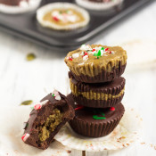 Peppermint Pumpkin Seed Butter Cups via @ExSloth | ExSloth.com